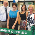 The ribbon was cut by (left to right) Hillsborough Country Public Schools supervisor of library media services for K-5 John Milburn, Elliott, HGE PTA president Jamie Priest and principal Gaye Holt.