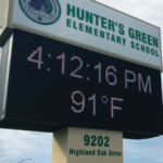 Hunter's Green Elem.'s New Marquee Sign Attracting Attention On Cross Creek Blvd.