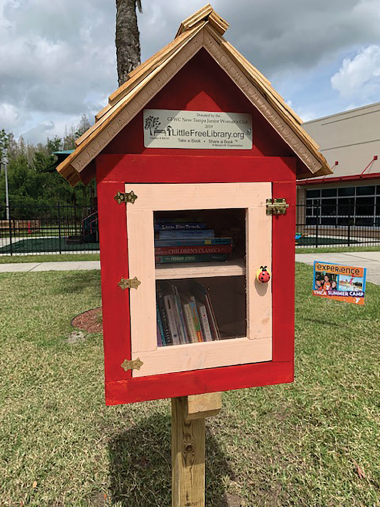 7e7b1e08 Check Out The Little Free Library At The New Tampa Family YMCA! —  Neighborhood News